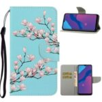 Pattern Printing Flip Leather Wallet Phone Cover for Honor 9A – Flower Branches