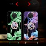 Luminous Tempered Glass PC + TPU Combo Shell with Kickstand for Xiaomi Redmi K30 Pro – Fish