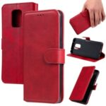 Classics PU Leather Phone Case Wallet Stand Magnetic Cover for Xiaomi Redmi Note 9S/9 Pro Max/9 Pro – Red