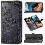 Embossed Mandala Flower Leather Case for Xiaomi Redmi K30 Pro/Redmi K30 Pro Zoom – Black