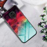 Gradient Color Tempered Glass + PC + TPU Combo Case for Xiaomi Redmi Note 9 Pro/9 Pro Max/9S – Colorful Nebula