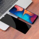 Anti-peep Silk Print Full Screen Tempered Glass Protector Film for Samsung Galaxy A21