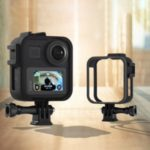 Panoramic Sports Camera External Fill Light Microphone Plastic Protective Frame for GoPro MAX Camera
