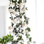 Rose Flower Garland 1.8m Hanging Rattan Wedding Greenery Party Decor – White