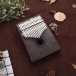 KALIMBA 17-key Thumb Piano Portable Mini Thumb Instrument – Black/Whole Set