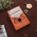 KALIMBA 17-key Thumb Piano Portable Mini Thumb Instrument – Brown/Whole Set