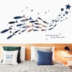 FANXI FX64131 Romantic Ocean Fish Wall Sticker Decal Restaurant Baby Room Decoration