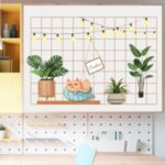 FANXI FX64134 Frame Cat Lamp Wallpaper Classroom Dormitory Desk Wall Decor Sticker