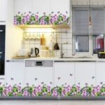 FANXI SK7202 Flower Butterfly Decal Living Room Cabinet Glass Window Decoration Wall Sticker