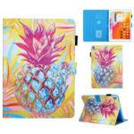 Pattern Printing Stand Leather Card Slots Tablet Cover for iPad 10.2 (2019)/Air 10.5 inch (2019) – Pineapple