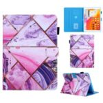 Pattern Printing Stand Card Holder Leather Case for iPad 9.7-inch (2018)/(2017)/Air 2/Air (2013) – Geometric Pattern