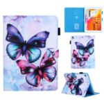 Pattern Printing Stand Card Holder Leather Case for iPad 9.7-inch (2018)/(2017)/Air 2/Air (2013) – Butterfly