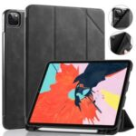 DG.MING See Series Auto Wake & Sleep Leather Phone Case for Apple iPad Pro 11-inch (2020)/(2018) – Black