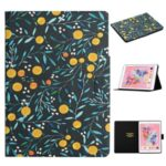 Flower Pattern Printing Card Holder Stand Tablet Cover Case for iPad 10.2 (2019)/Pro 10.5-inch (2017)/Air 10.5 inch (2019) – Orange