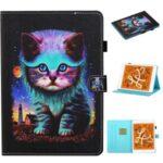 Pattern Printing Card Slots Stand Flip Leather Case for iPad Mini/Mini 2/Mini 3/Mini 4/Mini (2019) 7.9 inch – Cat