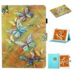 Pattern Printing Card Slots Stand Flip Leather Case for iPad Mini/Mini 2/Mini 3/Mini 4/Mini (2019) 7.9 inch – Butterfly