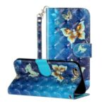 Light Spot Decor Pattern Printing Wallet Stand Leather Phone Shell for iPhone 6/6s 4.7-inch – Butterfly