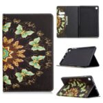 Pattern Printing Flip Leather Wallet Tablet Shell for Samsung Galaxy Tab S6 Lite SM-P610/P615 – Gold Butterflies