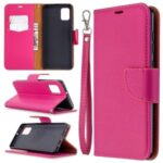 Litchi Surface with Wallet Leather Stand Case for Samsung Galaxy A31 – Rose