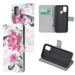 Pattern Printing PU Leather Wallet Stand Phone Cover for Samsung Galaxy M31 – Kapok
