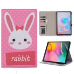 Cartoon Pattern Printing Wallet Stand Flip Smart Leather Case for Samsung Galaxy Tab S6 Lite P610 – Rabbit
