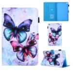 Pattern Printing Leather Card Holder Tablet Case for Samsung Galaxy Tab A 10.1 (2019) T510/T515 – Butterfly