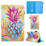 Pattern Printing Leather Card Holder Tablet Protective Case for Samsung Galaxy Tab A 8.0 Wi-Fi (2019) SM-T290 – Pineapple
