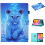Pattern Printing Card Slots Flip Leather Case for Samsung Galaxy Tab A 10.1 (2019) SM-T510/T515 – Little Tiger