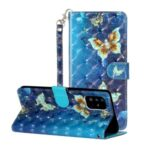 Light Spot Decor Pattern Embossed Leather Phone Case Wallet for Samsung Galaxy A71 SM-A715 – Butterfly