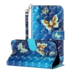 Light Spot Decor Patterned Leather Case Wallet Phone Cover for Samsung Galaxy J5 (2017)/J5 Pro (2017) – Butterfly