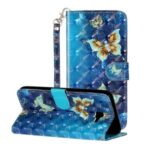 Light Spot Decor Patterned Leather Case Wallet Phone Cover for Samsung Galaxy J4+/J4 Plus – Butterfly