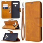 PU Leather Wallet Stand Phone Case for LG K61 – Brown