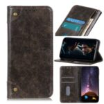 Auto-absorbed Leather Cool Wallet Case for Honor X10 5G – Coffee