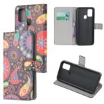 Phone Cover Pattern Printing Wallet Leather Case for Huawei P smart 2020 – Paisley Flower