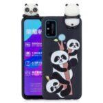 3D Doll Decor Soft TPU Pattern Printing Phone Cover for Honor 9A/Play 9A – Three Pandas