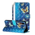 Light Spot Decor Pattern Printing Wallet Stand Leather Phone Case Cover for Huawei P20 Pro – Butterfly