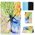Pattern Printing Stand Card Holder Leather Tablet Case for Lenovo Tab M10 Plus TB-X606F – Colorized Tree