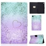 Pattern Printing Leather Stand Tablet Shell for Lenovo Tab M10 Plus TB-X606F – Glittery Element and Heart
