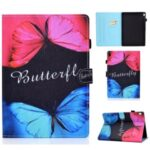 Pattern Printing Leather Card Holder Tablet Case for Lenovo Tab M10 TB-X605F – Butterfly