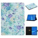 Flower Pattern Printing Card Holder Stand Tablet Cover Case for Lenovo Smart Tab M10FHD – Vivid Flower