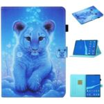 Pattern Printing Card Slots Stand Flip Leather Protective Case for Lenovo Tab M10 TB-X605F/M10 Plus – Little Lion