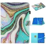 Pattern Printing Card Slots Stand Flip Leather Protective Case for Lenovo Tab M10 TB-X605F/M10 Plus – Glittery Element