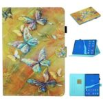 Pattern Printing Card Slots Stand Flip Leather Protective Case for Lenovo Tab M10 TB-X605F/M10 Plus – Butterfly