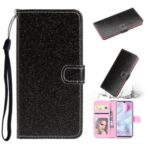 Flash Powder Wallet Leather Stand Case for Xiaomi Mi CC9 Pro – Black