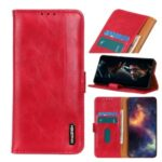Leather Wallet Stand Cover Case for Xiaomi Mi 10 Lite 5G/Mi 10 Youth 5G – Red
