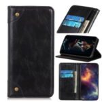 Crazy Horse Skin Auto-absorbed PU Leather Shell for Xiaomi Redmi Note 9/Redmi 10X 4G – Black