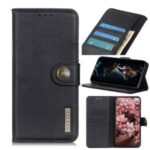 KHAZNEH Wallet Leather Stand Case Phone Cover for Xiaomi Redmi Note 9/Redmi 10X 4G – Black