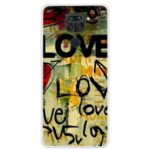 Pattern Printing Soft TPU Back Case Soft Covering for Xiaomi Redmi Note 9/10X 4G – Love Letters