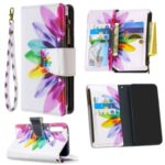 BF03 Pattern Printing Zipper Wallet Leather Phone Case for Xiaomi Redmi Note 8T – Colorful Petals