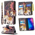 BF03 Pattern Printing Zipper Wallet Leather Phone Shell for Xiaomi Redmi Note 7 – Elephant
